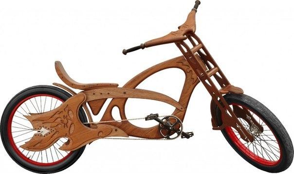 Велосипед из дерева своими руками чертежи
